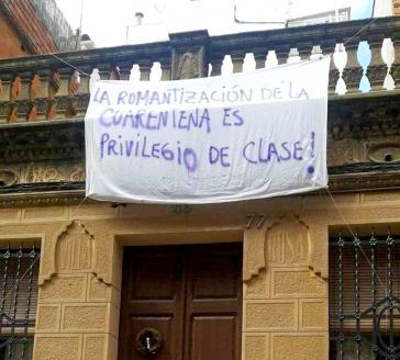 """""""Die Romantisierung der Quarantäne ist ein Klassenprivileg"""": Transparent in Kolumbien"""