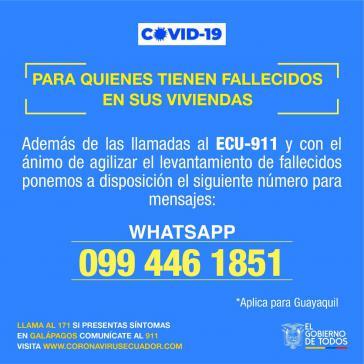 Für diejenigen, die einen Toten zuhause haben: einfach Whatsapp-Nachricht schicken