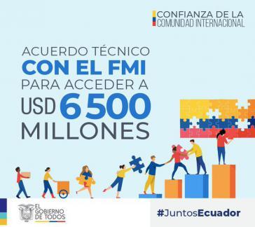 """Ecuadors Präsident Moreno feiert das jüngste Abkommen mit dem IWF als """"großartige Neuigkeit"""""""