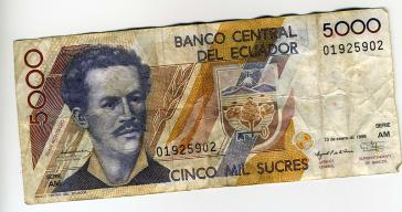 Unter Druck durch hohe Auslandsschulden: Ecuadorianischer Sucre