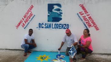 Noch ist nicht sicher, ob Correa kandidieren kann, aber die ersten Wandbilder sind schon gemalt