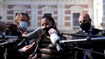 Die Mutter von Facundo Castro, Cristina, bei einer Demonstration am Donnerstag in Buenos Aires