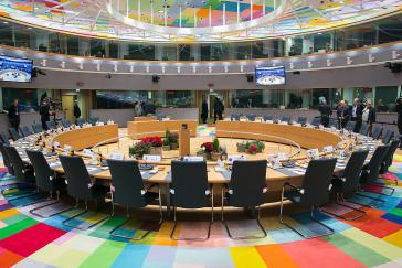 Sitzungssaal des Europäischen Rates in Brüssel