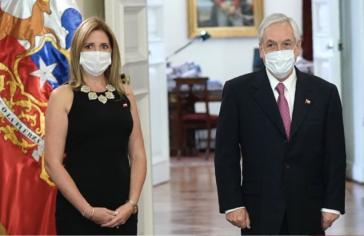 Chiles Präsident Piñera mit seiner neuen Ministerin für Frauen und Geschlechtergleichheit, Macarena Santelices. Sie ist die Großnichte des ehemaligen Diktators Augusto Pinochet