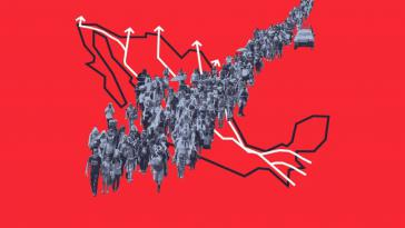 Graphik Wege der Migranten Richtung USA