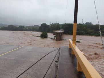 Eine von vielen: Die Saopin Brücke in Honduras stürzte ein