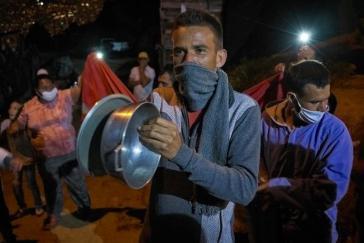 An vielen Orten Kolumbiens mehren sich die Hunger-Proteste, weil die Arbeit im informellen Sektor unter der Quarantäne weggebrochen ist. Hier Nueva Jerusalén in Bello