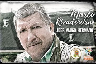 """Marcos Rivadeneira, Mitglied des Vorstands des """"Nationalen Agrarkoordinators"""", wurde am 19. März ermordet"""