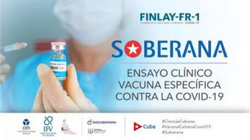 """""""Soberana"""" (Souverän) ist der Name des in Kuba entwickelten Imfpstoffes gegen Covid-1ß, der jetzt klinisch getestet wird"""