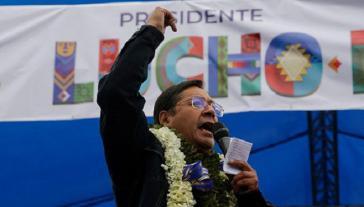 """Luis Arce: """"Das Volk hat die Seele des Prozesses des Wandels zurückerobert, dafür danke ich dem bolivianischen Volk"""""""