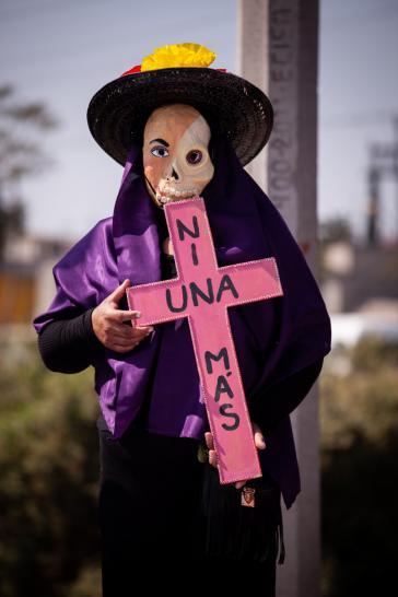 """""""Nicht eine mehr"""", Protestaktion gegen Gewalt gegen Frauen in Mexiko"""