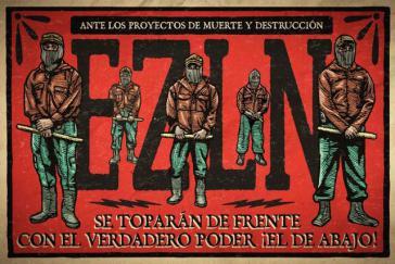 """Auch die EZLN ruft zum Widerstand gegen das Infrastrukturprojekt """"Tren Maya"""" auf"""