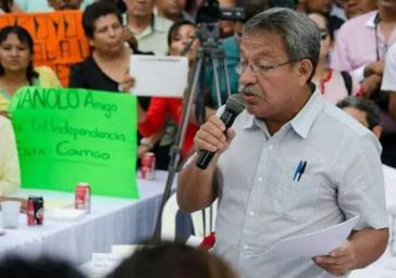 Der Anwalt und Umweltschützer Isaac Medardo Herrera Aviles