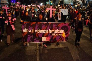 Immer wieder gehen Frauen in Mexiko auf die Straße und fordern von der Regierung Maßnahmen zu ihrem Schutz