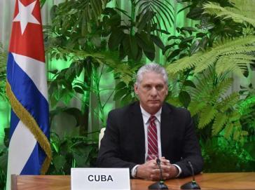 Kubas Präsident Díaz-Canel plädiert für internationale Zusammenarbeit, um dem Klimawandel zu begegnen
