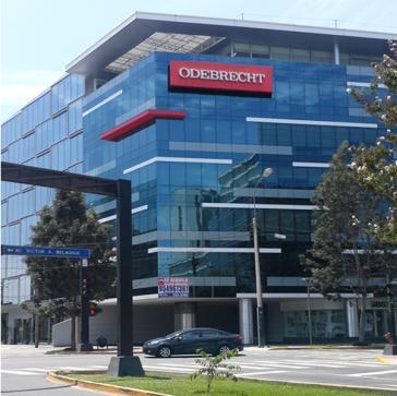 Das Centro empresarial von Odebrecht in Perus Hauptstadt Lima