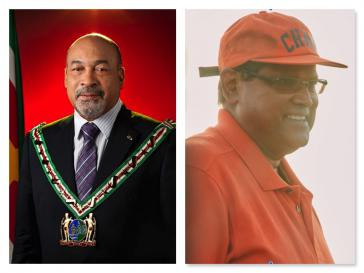 Dési Bouterse (links) muss sein Amt wohl abgeben, Chan Santokhi (rechts) dürfte ihm nachfolgen