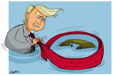 Trump und Kuba: Karikatur der Seite cubahora.cu