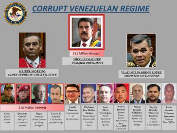 """""""Einzigartiger Vorgang"""": Kopfgelder der USA für Mitglieder der Regierung von Venezuela"""