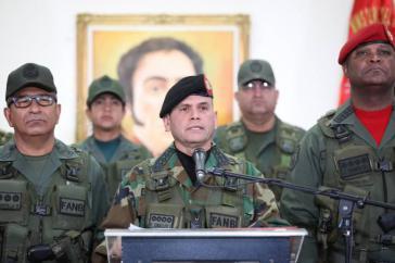 Der Leiter des Strategischen Einsatzkommandos, Remigio Ceballos, gab am Freitag eine Erklärung zur Unterstützung Maduros ab