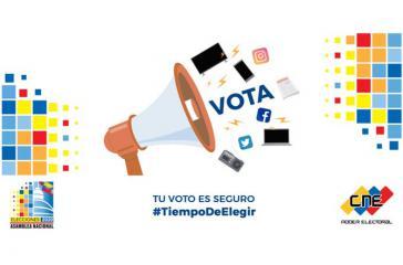 Einer von vielen Aufrufen des CNE zur Wahlbeteiligung