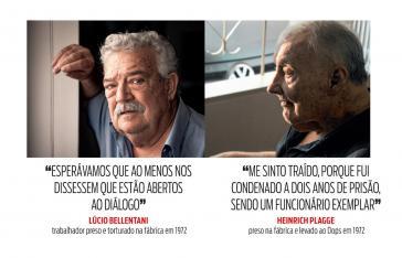 Für sie kommt die Entschädigung zu spät: die früheren VW-Mitarbeiter und Zeugen Lúcio Bellentani und Heinrich Plagge