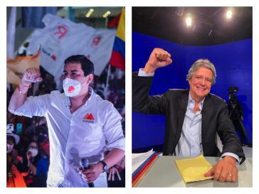 Andrés Arauz (links) und Guillermo Lasso (rechts) wollen heute zum neuen Präsidenten von Ecuador gewählt werden