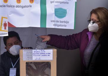 Stichwahl in La Paz am Sonntag. Auch hier verlor der MAS-Kandidat