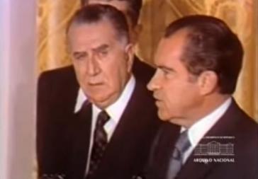 Emílio Garrastazu Médici beim Staatsbesuch im Weißen Haus 1971