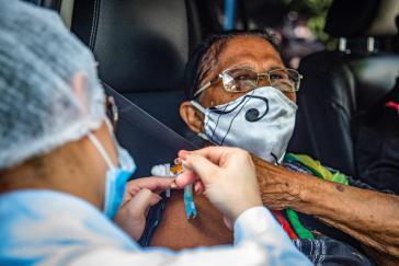 Knapp fünf Prozent der Brasilianer:innen sind bislang geimpft worden