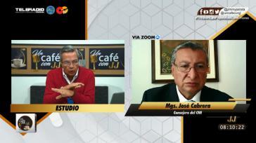 """José Cabrera, Mitglied des Wahlrats, stand in der Sendung """"Un Café con JJ"""" Rede und Antwort"""