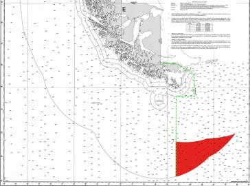 Um das rot markierte Gebiet dreht sich der aktuelle Grenzkonflikt zwischen Chile und Argentinien