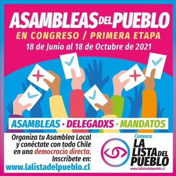 Die Lista del Pueblo ruft zu Volksversammlungen auf, um eine breite Beteiligung an der Ausarbeitung der neuen Verfassung sicherzustellen
