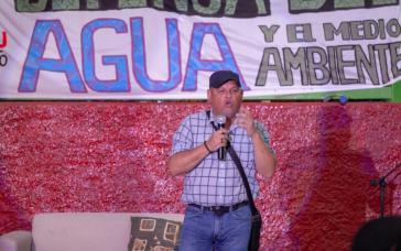 Rodrigo Mundaca im Februar 2020 bei einem Festival für das Recht auf Wasser und die Umwelt