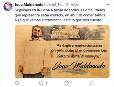 Setzt seinen Kampf gegen die Sandinisten im Exil in Costa Rica fort: Joao Maldonado