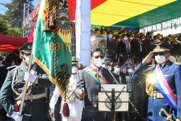 Boliviens Präsident, Luis Arce, rief bei einer Rede das Militär zur Einheit und dem Beginn eines neuen Zyklus auf