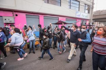Andrés Arauz in Chillogallo, im Süden von Quito, am 6. April