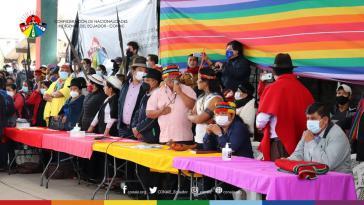 Die indigene Organisation Conaie ruft zur Abgabe ungültiger Stimmen bei der Stichwahl im April auf