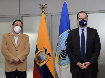 Cueva traf sich kurz nach Lassos Amtsantritt mit dem Präsidenten der Interamerikanischen Entwicklungsbank aus den USA, Mauricio Claver-Carone