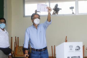 Lasso bei der Abstimmung am Sonntag in Guayaquil