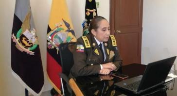 Die Generalkommandantin der ecuadorianischen Nationalpolizei, Tanya Varela