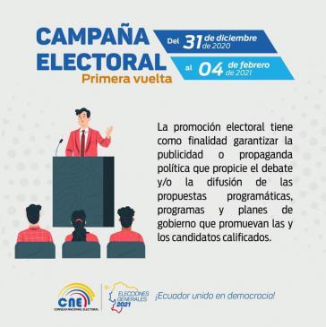 Bekanntgabe des Wahlkampfbeginns durch den Nationalen Wahlrat