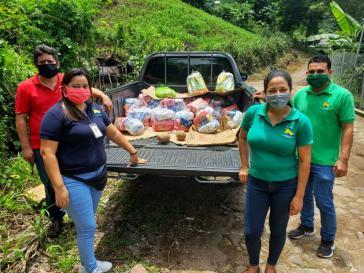 Selbsorganisierte Hilfe in Corona-Zeiten: Das CCR organisiert auch die Verteilung von Lebensmitteln in den Gemeinden