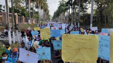 Codeca-Demonstration für die Vergesellschaftung der öffentlichen Daseinsvorsorge am 2. März