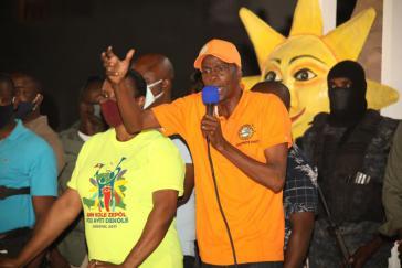 Weigert sich zu gehen: Jovenel Moïse, hier bei der Eröffnung des landesweiten Karnevals am 14.Februar in Port-de-Paix