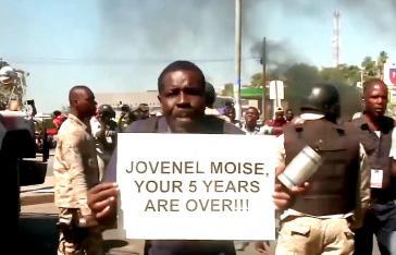 """""""Jovenel Moïse – deine fünf Jahre sind vorbei"""": Am 7. Februar endete die Amtszeit des Präsidenten (Screenshot)"""