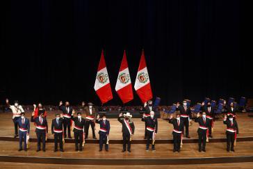 Erst Ende Juli eingeschworen, heute schon mit kräftigem Gegenwind: das Kabinett von Präsident Pedro Castillo