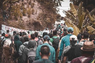 Protest gegen die Militärbasis in der Gemeinde Hacarí