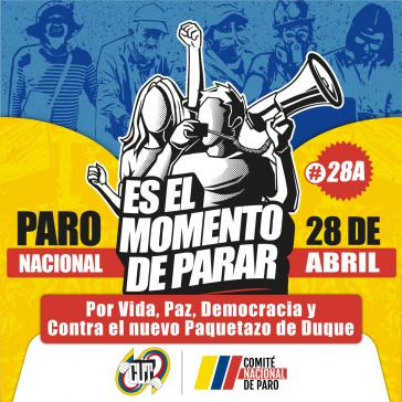 Aufruf des Nationalen Streikkomitees für den 28. April
