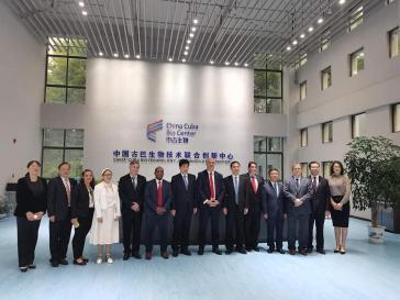 Bei der Einweihung des kubanisch-chinesischen Innovationszentrum in der Stadt Yongzhou